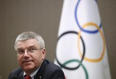 President of the International Olympic Committee (IOC) Thomas Bach attends a news conference in Seoul, South Korea, August 19, 2015.  REUTERS/Kim Hong-Ji/files