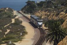 Un consortium d'entreprises ferroviaires chinoises s'est associé avec une société américaine pour construire une ligne de chemin de fer à grande vitesse aux Etats-Unis, entre les villes de Las Vegas et Los Angeles. /Photo d'archives/REUTERS/Mike Blake