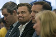 Actor Leonardo DiCaprio smiles during a news conference in New York September 22, 2015. REUTERS/Shannon Stapleton