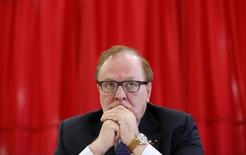 Canadian Olympic Committee president Marcel Aubut takes part in a news conference announcing the launch of an anonymous hotline to report athletes suspected of doping, in Ottawa November 5, 2013. REUTERS/Chris Wattie
