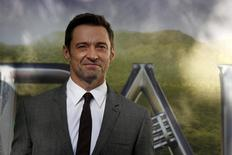"""Actor Hugh Jackman arrives for the world premiere of """"Pan"""" at Leicester Square in London, Britain September 20, 2015. REUTERS/Luke MacGregor - RTS20KU"""