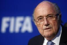 FIFA President Sepp Blatter speaks during a news conference after the Extraordinary FIFA Executive Committee Meeting at the FIFA headquarters in Zurich, Switzerland July 20, 2015.     REUTERS/Arnd Wiegmann