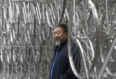 Artista dissidente chinês Ai Weiwei durante exibição em Londres.  16/09/2015    REUTERS/Peter Nicholls