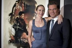 """Emily Blunt e Josh Brolin em lançamento do filme """"Sicario: Terra de Ninguém"""" em Nova York. 14/9/2015.   REUTERS/Brendan McDermid"""