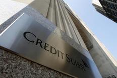 Le directeur général de Credit Suisse, Tidjane Thiam, s'attend à ce que 2016 soit une année difficile pour la banque suisse en raison de son projet de restructuration. /Photo prise 1er septembre 2015/REUTERS/Mike Segar