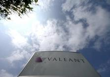 The company logo of Valeant Pharmaceuticals International Inc is seen at its headquarters in Laval, Quebec in a May 19, 2015 file photo. REUTERS/Christinne Muschi/Files