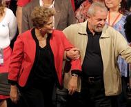 Dilma e Lula em evento em São Paulo. 13/10/2015 REUTERS/Nacho Doce