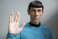 """An impersonator poses in costume as the character Mr Spock from the science fiction series """"Star Trek"""" at the London Film and Comic-Con in London, Britain July 17, 2015. REUTERS/Neil Hall"""