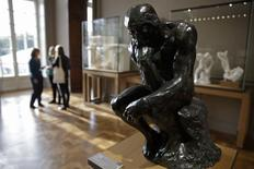 "The sculpture ""Le Penseur"" (The Thinker, 1881-1882 original size) by French sculptor Auguste Rodin (1840-1917) is seen during a visit at the Musee Rodin in Paris, France, November 5, 2015.  REUTERS/Philippe Wojazer"