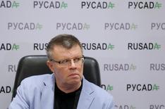 Chefe da agência antidoping da Rússia, Nikita Kamaev, em entrevista coletiva em Moscou. 10/11/2015 REUTERS/Maxim Shemetov