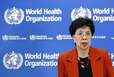 Diretora-geral da OMS, Margaret Chan, durante evento em Genebra.  19/10/2015   REUTERS/Denis Balibouse