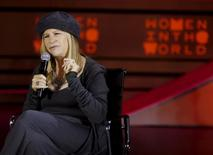 Actress Barbra Streisand speaks during the Women in the World summit in New York, April 23, 2015.   REUTERS/Shannon Stapleton - RTX1A0ZW