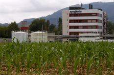 Prédio da fabricante de pesticidas Syngenta, rival que pode ser adquirida pela Monsanto.  23/07/2015        REUTERS/Arnd Wiegmann