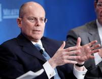 UnitedHealth Chief Executive Officer Stephen Hemsley takes part in a panel discussion   in Beverly Hills, California, in this file photo taken May 1, 2012.  REUTERS/Danny Moloshok/Files