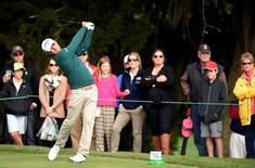Kevin Kisner drives off the 9th tee box during the final round of the RSM Classic at Sea Island Golf Club - Seaside Course. Mandatory Credit: John David Mercer-USA TODAY Sports