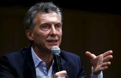 Presidente eleito da Argentina, Mauricio Macri, durante evento em Buenos Aires.  23/11/2015  REUTERS/Enrique Marcarian