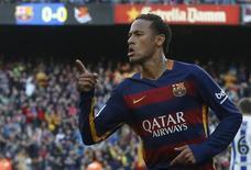 Neymar durante partida do Barcelona contra o Real Sociedad pela Liga Espanhola.  28/11/2015    REUTERS/Albert Gea