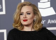 British singer Adele arrives at the 54th annual Grammy Awards in Los Angeles, California February 12, 2012.   REUTERS/Danny Moloshok