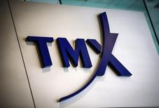 A TMX Group sign, the company that runs the Toronto Stock Exchange (TSX), is seen in Toronto, June 23, 2014. REUTERS/Mark Blinch