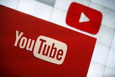 Logo do YouTube visto em espaço da companhia em Los Angeles.   21/10/2015   REUTERS/Lucy Nicholson