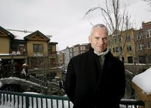 """Director of the movie """"In Bruges"""" Martin McDonagh poses during the 2008 Sundance Film Festival in Park City, Utah, United States in this January 18, 2008 file photo. REUTERS/Mario Anzuoni"""