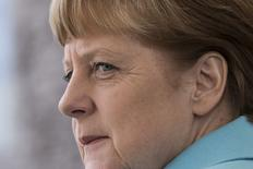 Chanceler alemã, Angela Merkel, em Berlim. 14/04/2015 REUTERS/Axel Schmidt
