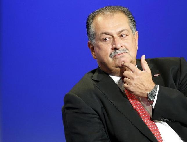 Dow Chemical CEO Andrew Liveris participates in a business leaders panel discussion as part of the U.S.-Africa Business Forum in Washington, in this August 5, 2014 file photo. REUTERS/Jonathan Ernst/Files