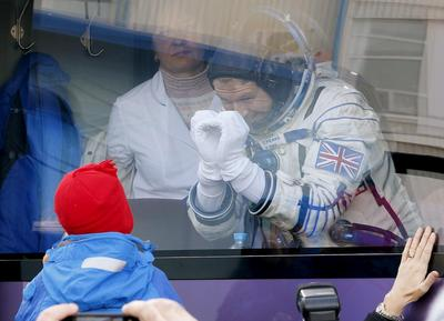Britain's first astronaut blasts off
