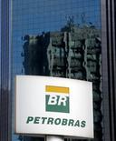 Logo da Petrobras em prédio da empresa em São Paulo. 06/02/2015 REUTERS/Paulo Whitaker