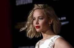 Jennifer Lawrence durante evento em Los Angeles.     17/11/2015    REUTERS/Mario Anzuoni