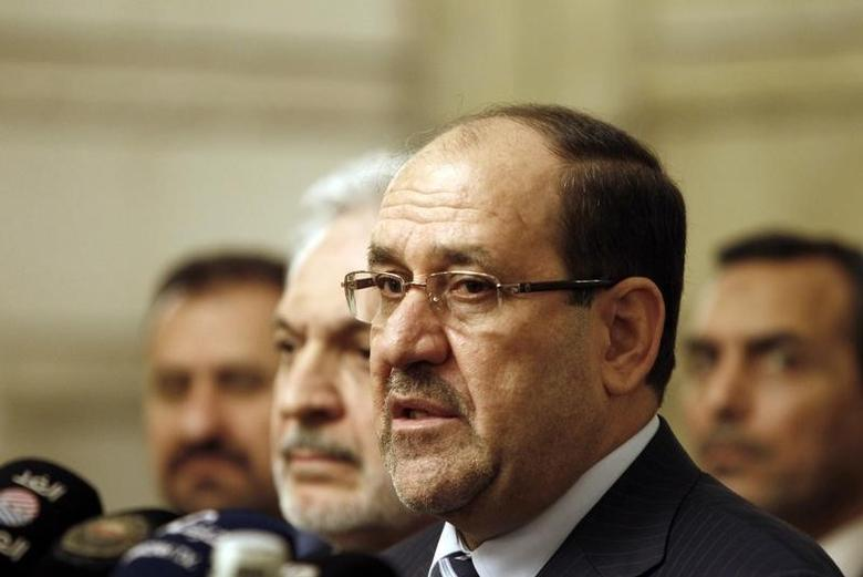 Nuri al-Maliki speaks during a news conference in Baghdad, November 29, 2014.   REUTERS/Ahmed Saad