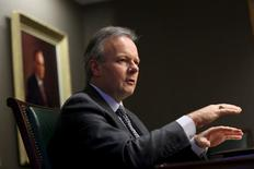 Bank of Canada Governor Stephen Poloz speaks during an interview with Reuters in Ottawa, Canada December 18, 2015. REUTERS/Chris Wattie