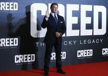 """Sylvester Stallone em lançamento de """"Creed"""" em Londres 2/1/2016 REUTERS/Eddie Keogh"""