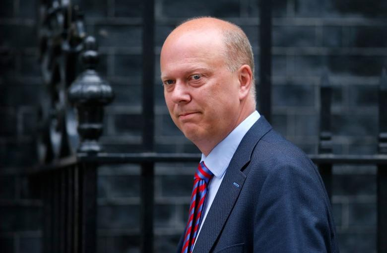 Chris Grayling, the leader of the House of Commons, arrives for Britain's Prime Minister David Cameron's first cabinet meeting at 10 Downing Street, in Westminster, London, Britain, May 12, 2015. REUTERS/Suzanne Plunkett