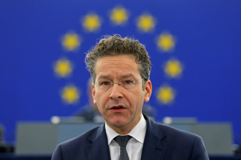 Dutch Finance Minister and Eurogroup President Jeroen Dijsselbloem addresses the European Parliament during a debate on the future of the Economic and Monetary Union in Strasbourg, France, December 15, 2015.   REUTERS/Vincent Kessler