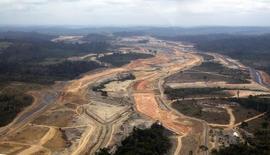 Vista aérea de obras de hidrelétrica de  Belo Monte 15/12/2012 15/12/2012