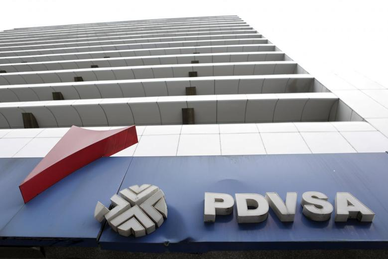 The PDVSA logo is seen at a gas station in Caracas, December 21, 2015. REUTERS/Marco Bello