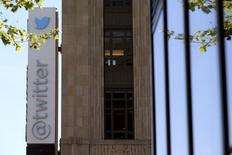 Logo do Twitter na sede da empresa em San Francisco. 29/04/2014 REUTERS/Robert Galbraith