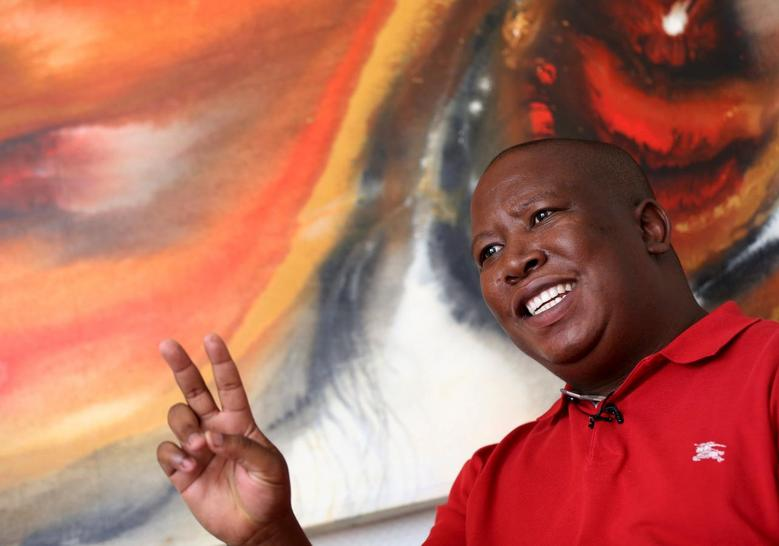 South Africa's Malema urges voters to fire...