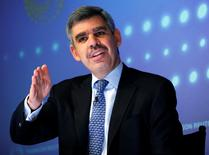Mohamed El-Erian speaks during an interview at Thomson Reuters in New York March 31, 2011. REUTERS/Shannon Stapleton