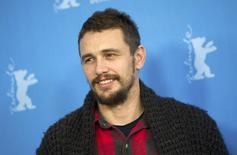 "Actor James Franco poses during a photo call to promote the in-panorama film ""I Am Michael"" at the 65th Berlinale International Film Festival in Berlin February 9, 2015. REUTERS/Stefanie Loos"