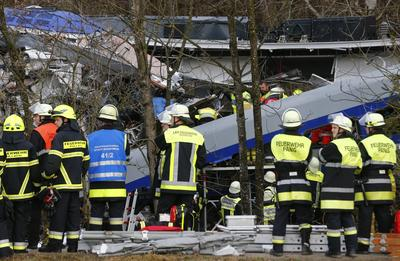 Train crash in Germany
