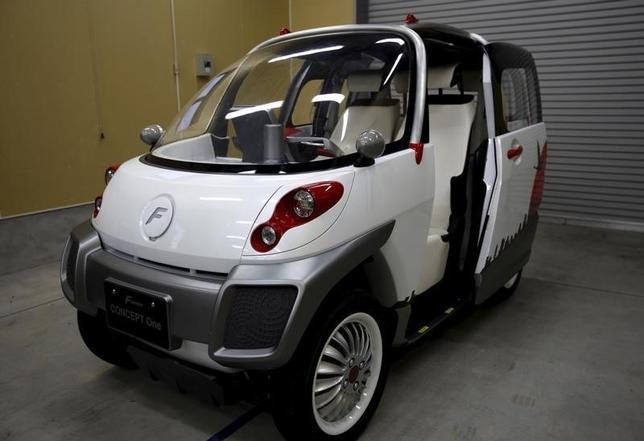 2月9日、小型の電気自動車(EV)開発ベンチャー、FOMM(フォム、神奈川県川崎市)は「タイの国民車」を目指し、タイで超小型EV(写真)の販売を計画している。(2016年 ロイター/Maki Shiraki)