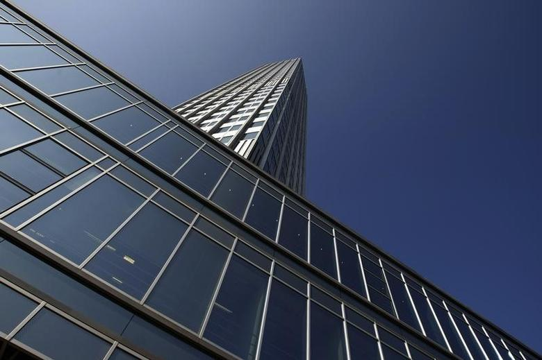 Outside view shows the headquarters of the European Central Bank (ECB) in Frankfurt September 18, 2008.  REUTERS/Alex Grimm
