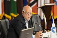 El ministro del Petróleo de Irán, Bijan Zanganeh, en una reunión de países gasíferos en Teherán , nov 21, 2015. Irán apoya la decisión de países productores dentro y fuera de la OPEP de congelar los volúmenes de extracción de crudo, dijo el miércoles el ministro del Petróleo en Teherán, Bijan Zanganeh, citado por la agencia oficial de noticias Shana.   REUTERS/Raheb Homavandi/TIMA   IMAGEN CEDIDA A REUTERS