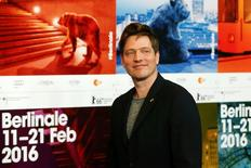 Director Thomas Vinterberg arrives for a news conference to promote the movie 'The Commune' at the 66th Berlinale International Film Festival in Berlin, Germany, February 17, 2016.      REUTERS/Fabrizio Bensch