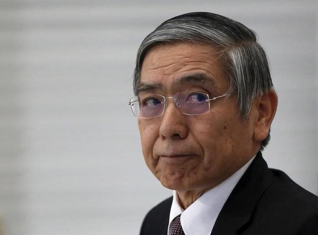 2月25日、日銀の黒田東彦総裁は、先月導入したマイナス金利政策に関し「為替安を目的に金融政策を行っているわけではない」との認識を示した。写真は3日、都内で撮影(2016年 ロイター/Yuya Shino)
