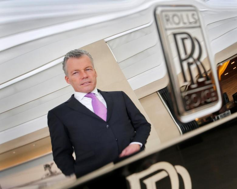 Rolls Royce Motor Cars Chief Executive Officer Torsten Mueller Oetvoes Is Reflected
