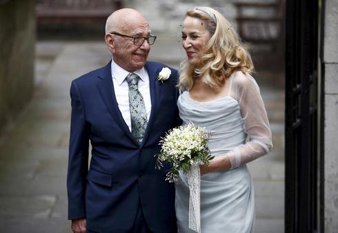 Rupert Murdoch and Jerry Hall marry