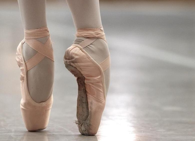 File photo of a ballet dancer performing on blocked shoes during a classical class at the Prix de Lausanne in Lausanne February 1, 2011. REUTERS/Denis Balibouse